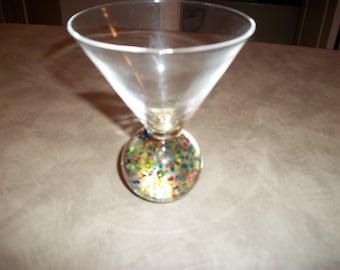 bubble glass martini or flower holder