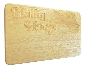 Breakfast board Hallig hooge North Sea engraving wood-Breakfast Board-engrave