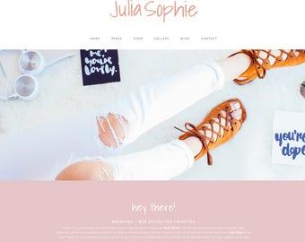 Wordpress Theme & Brand Suite - Julia Sophie