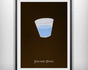 Jurassic park minimalist movie poster