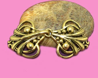 Clasp hook 50x20mm color baroque gold