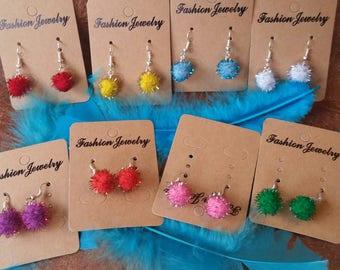 Festive Christmas colors earrings