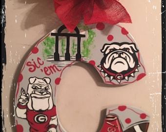 UGA Bulldogs Initial Door Hanger