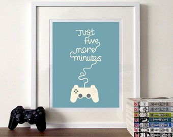 Typographic print, quote print, quote poster, typographic gaming, gaming typography, gaming poster, prints and posters, game controller, art