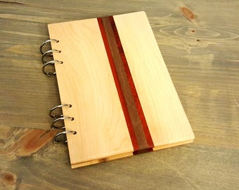 Hardwood Wooden Notebook with inlay