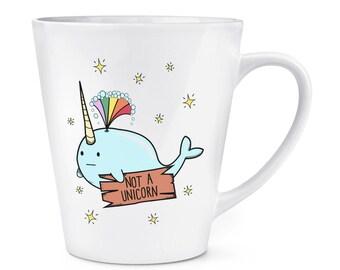 Narwhal Not A Unicorn 12oz Latte Mug Cup