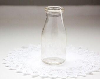 Small Vintage Milk Bottle, Half Pint Milk Bottle
