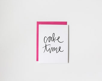 cake time birthday card