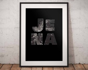 Jena - A4 / A3 print - MapInBlack