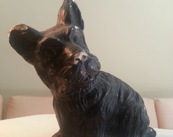 Scottish Terrier Dog Ceramic Statue Shabby Chic Vintage Scottie Dog Figurine