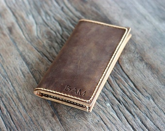 iPhone 7 Leather Wallet Case, Leather iPhone Case, iPhone Protective Leather Armor, Clutch Wallet Design, PERSONALIZED Gift Idea, JooJoobs