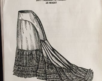 AP1631: Victorian Sewing Pattern Ladies 1877 Trained Petticoat, 30% OFF
