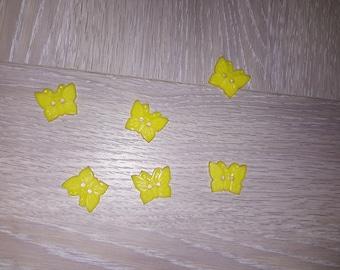Set of 6 fancy Butterfly buttons