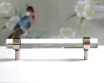 "3/4"" DIA - Polished Nickel or Chrome Drawer Pull  Diameter"