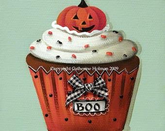 Halloween Cupcake Print Pumpkin