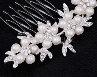 Pearl Bridal Hair Combs Tiara Hairpin Hair Wedding Accessories