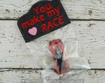 You Make My Heart Race Valentine - Treat Bag - Party Favor - Class Gift - Gift Bag - Candy Bag - Favor Bag - Seasonal Gift - Party Supplies