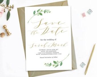 Editable Save The Dates Template Printable Save the Date Printable Save Our Date Editable PDF Instant Download Jasmine Wedding Invitation