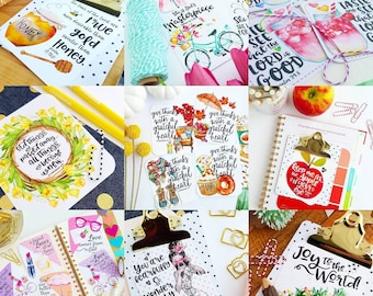DISCOUNTED BULK LISTING 50 or more scripture cards for gifts / bible journaling / packaging