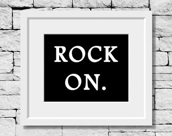 Rock On, Music Quote, Music Decor, Music Teacher, Music Room Decor, Music Student, Music Art, Typography, Music Poster