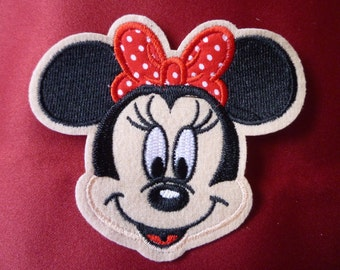 Disney Minnie Mouse iron-on, sew-on applique, patch, embroidery badge.