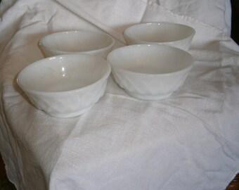 Vintage Irredescent Pineapple Fireking bowls