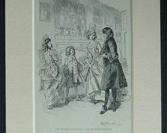 1905 Antique Henry Esmond Print, Moustache Picture, Regency Gentleman Dandy Gift, Fireplace Wall Art, Available Framed, Book Art, Aristocrat
