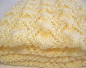 Hand Knitted, Baby Blanket, Baby Afghan, Baby Boy, Baby Girl, Baby Shower