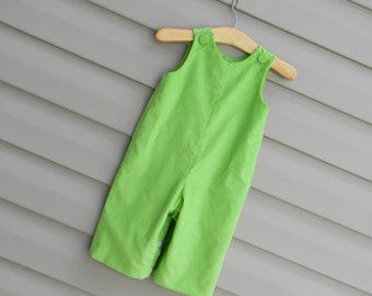 Boys Green Corduroy Longall, Add Monogram or Applique with purchase of Purchase of Upgrade