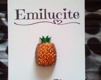 Sparkly Pineapple Brooch