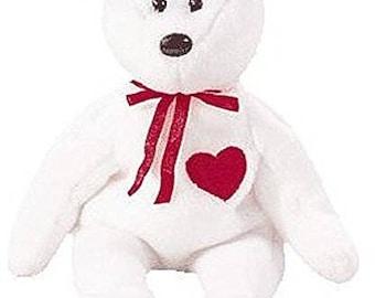 Vintage Retired Ty Beanie Babies Valentino - Bear
