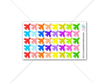 Itty Bitty Airplane Stickers! Itty Bitty Planner Stickers, Travel Stickers, Sew Much Crafting Stickers, Personal Planner  #SQ00442
