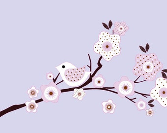 Custom listing for Candy Kids tree branch vinyl wall decal in lilac