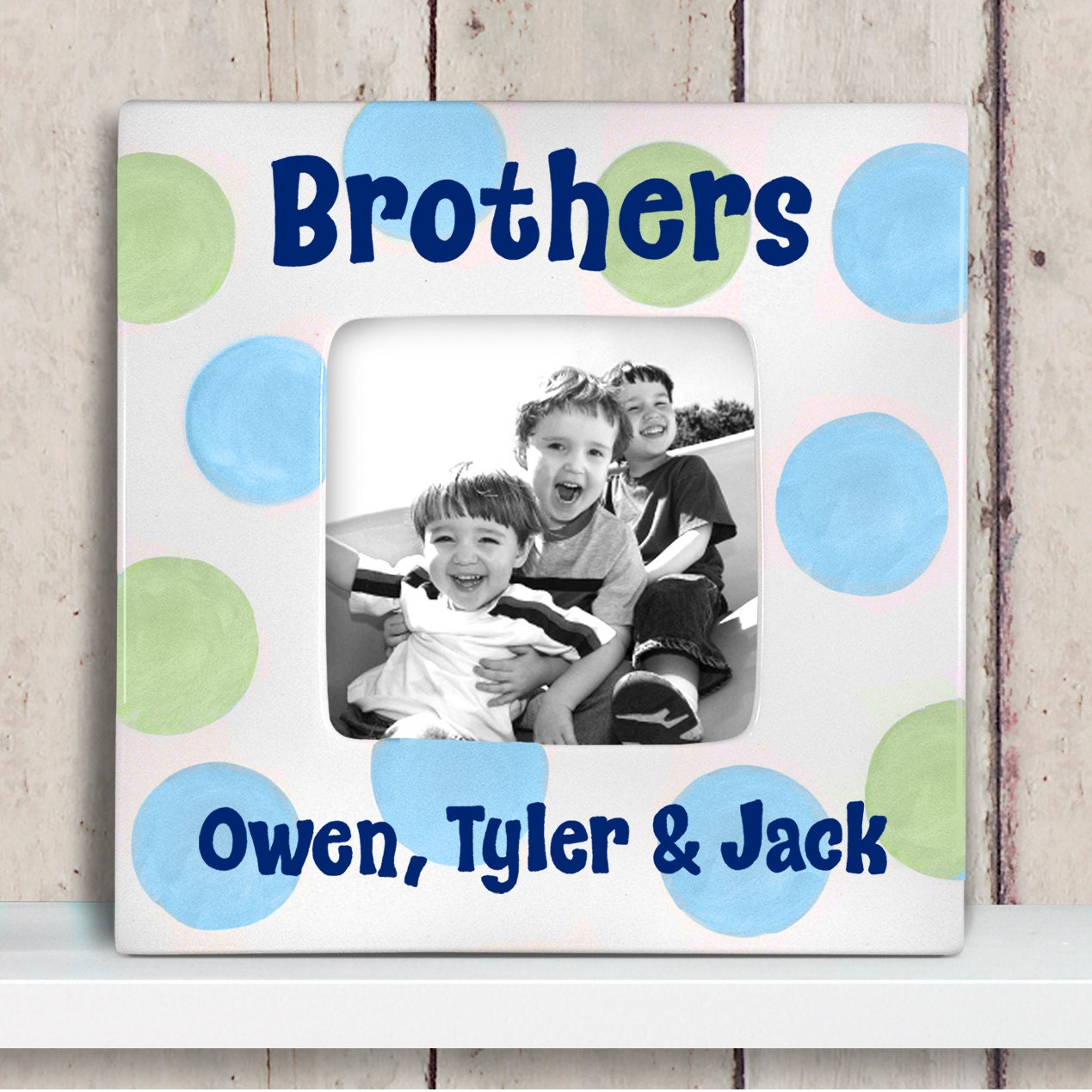 Personalized picture frame - Brothers frame - Big brother gift