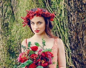 Bridal Berry Crown