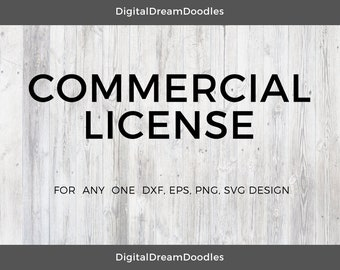 Commercial Use License for svg, png, eps, dxf Design Cut Files From Digitaldreamdoodle
