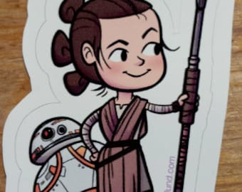 Rey and BB-8 Vinyl Sticker