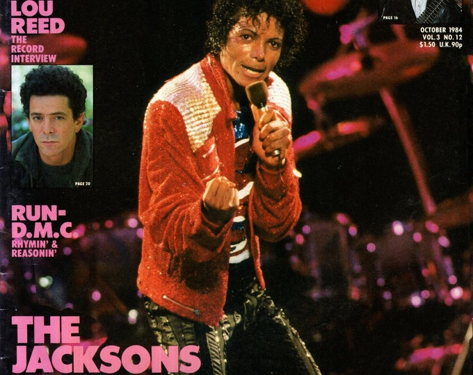 Record Magazine October 1984 Issue Michael Jackson Cover