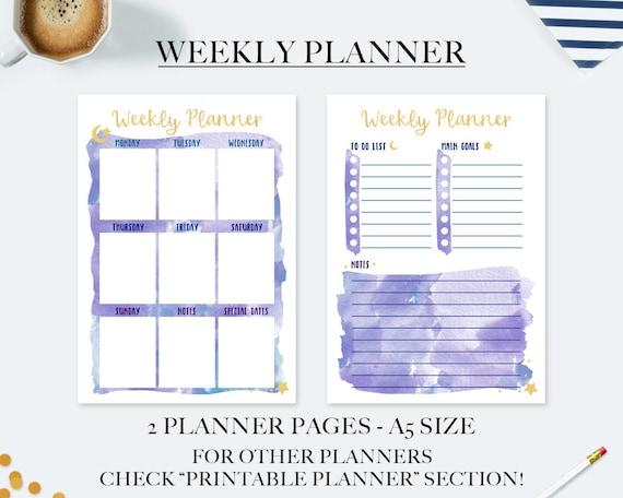Amato Planner settimanale planner stampabile agenda 2018 ricambio BC58
