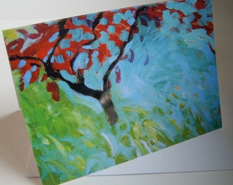 The Red Tree Greetings Card