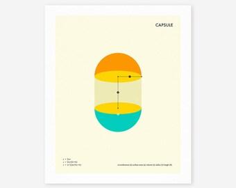 CAPSULE (Giclée Fine Art Print/Photo Print/Poster Print) Minimal, Geometric Art