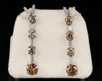 Extraordinary 5.80 Ct Diamond Vintage Drop Earrings