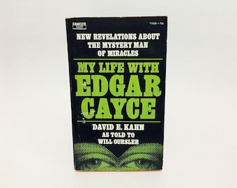 Vintage Non-Fiction Book My Life with Edgar Cayce by David E. Kahn 1971 Paperback