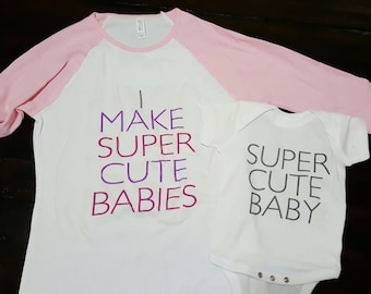 Mother's day gift, Mommy and me shirts, matching mother daughter, gift for mom for mother's day. A matching set for mom and baby