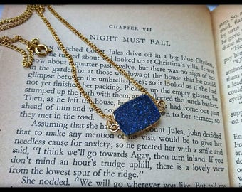 Night Must Fall Druzy Agate pendant necklace