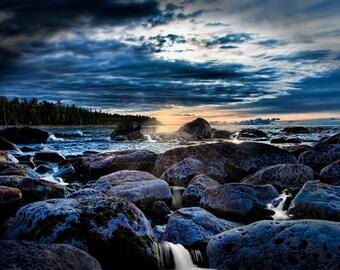 Michigan Photography, Michigan Photo, Michigan, Lake Huron, Straights of Mackinaw,  Fine Art Print, Art, Great Lakes Photography, Blue