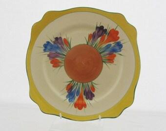 Clarice Cliff Autumn Crocus Leda Plate