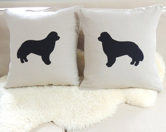 Newfoundland Dog Pillow Cover Pair