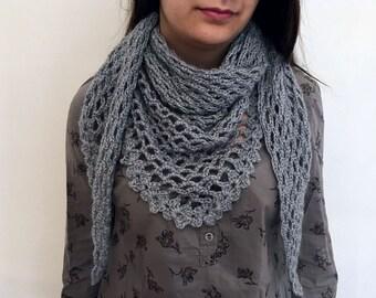 Baktus-wool blend made by hand crochet