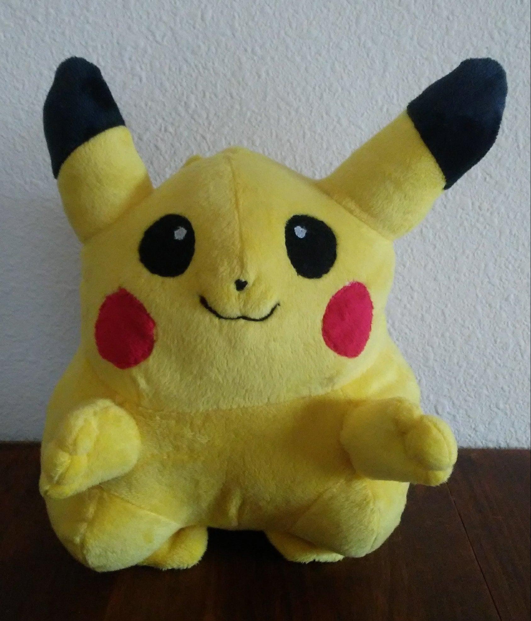 cute cuddly classic pikachu plush handmade soft adorable